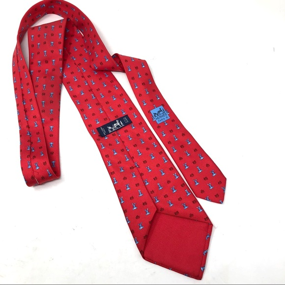 0134630e3cf7 Hermes Accessories | Herms Red Bunny Tie | Poshmark